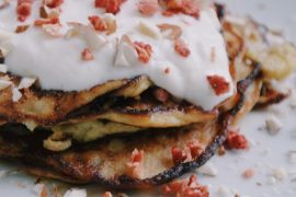 Two Ingredient pancakes gives you a healthy start of the day. Click through for the recipe, or repin to save for later!