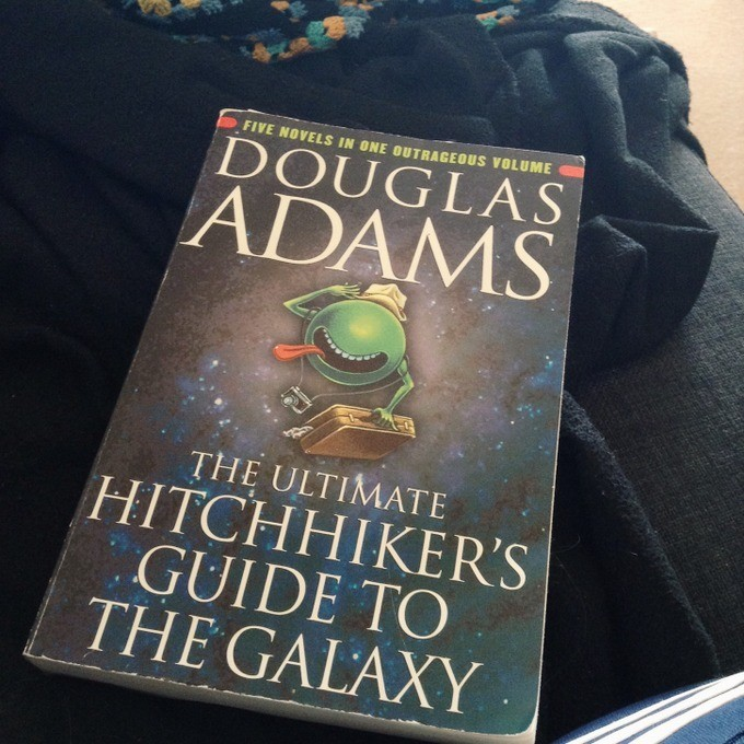 Hitchhiking with Douglas Adams - Hitchhikers guide to the galaxy book review