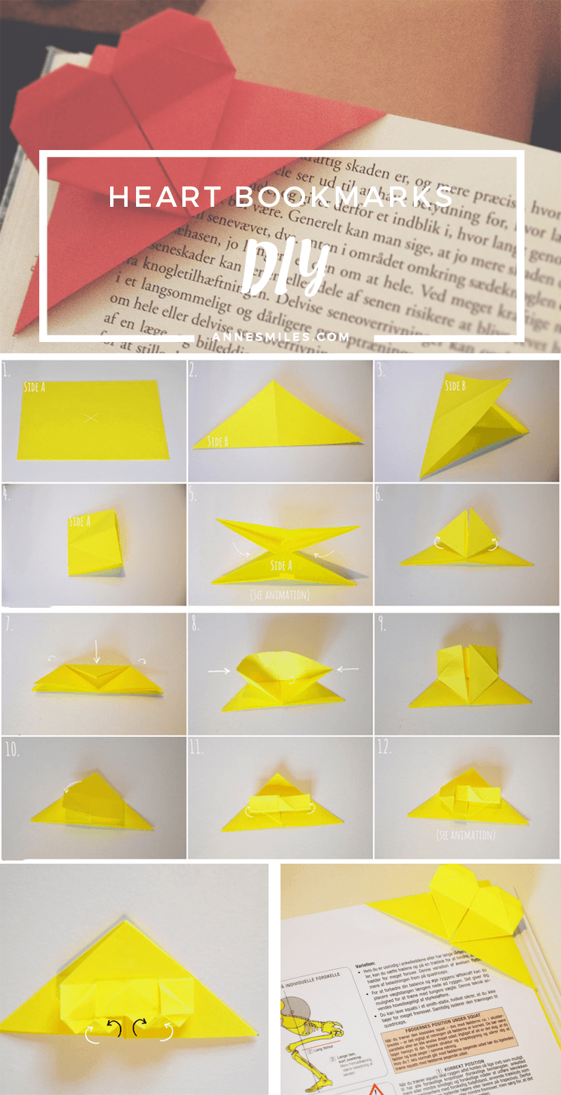 DIY: How to make heart bookmarks