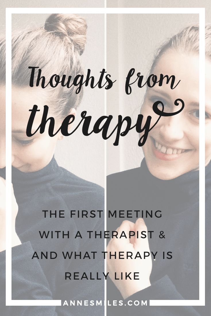 The First Meeting - Thoughts from Therapy    I need therapy. It's not easy for me to admit. But I know I'm not alone - and I want to share my story of recovery with you, while it's still being written - let's break the taboo!