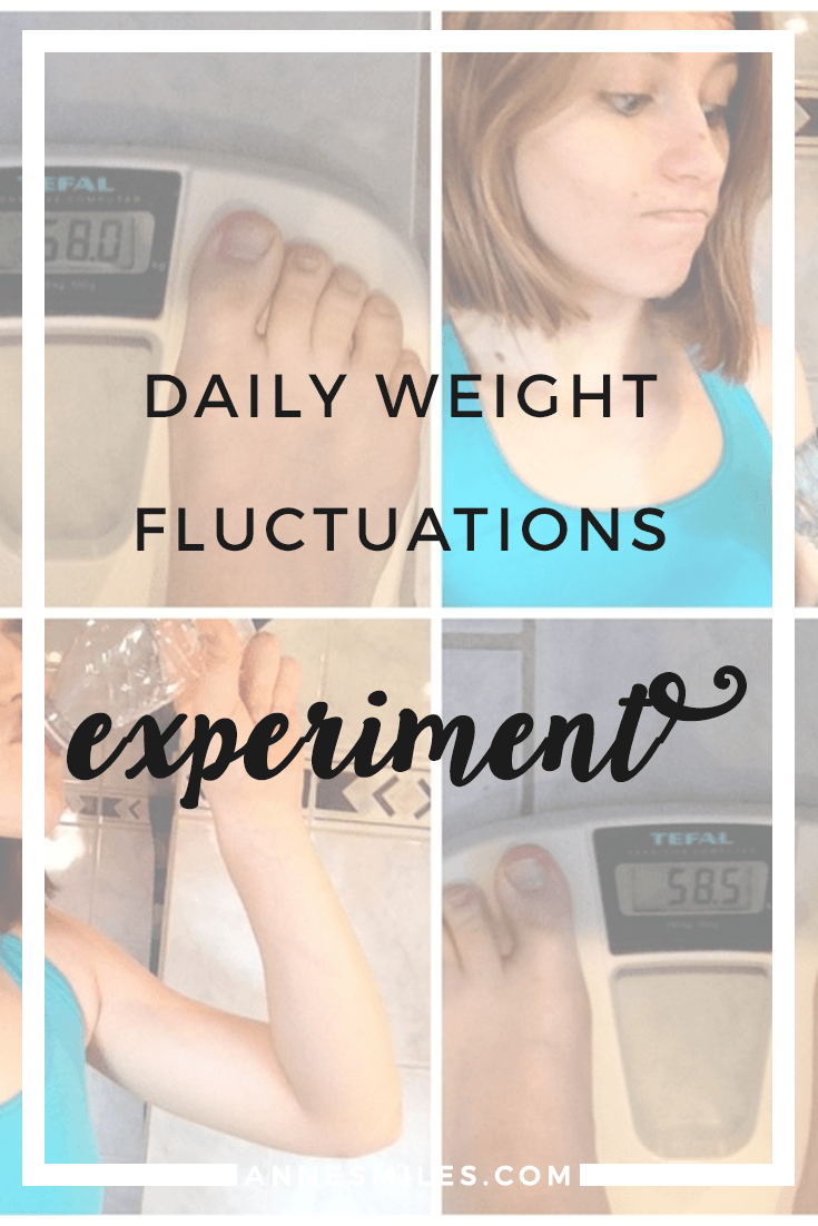 Daily weight fluctuations experiment - Do you know how much your weight can change, just in the course of a single day? #weightloss #health