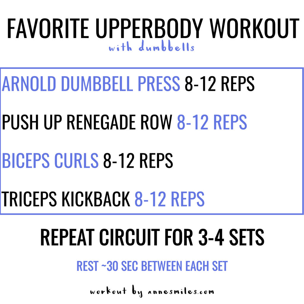 Favorite Upperbody Workout Annesmiles