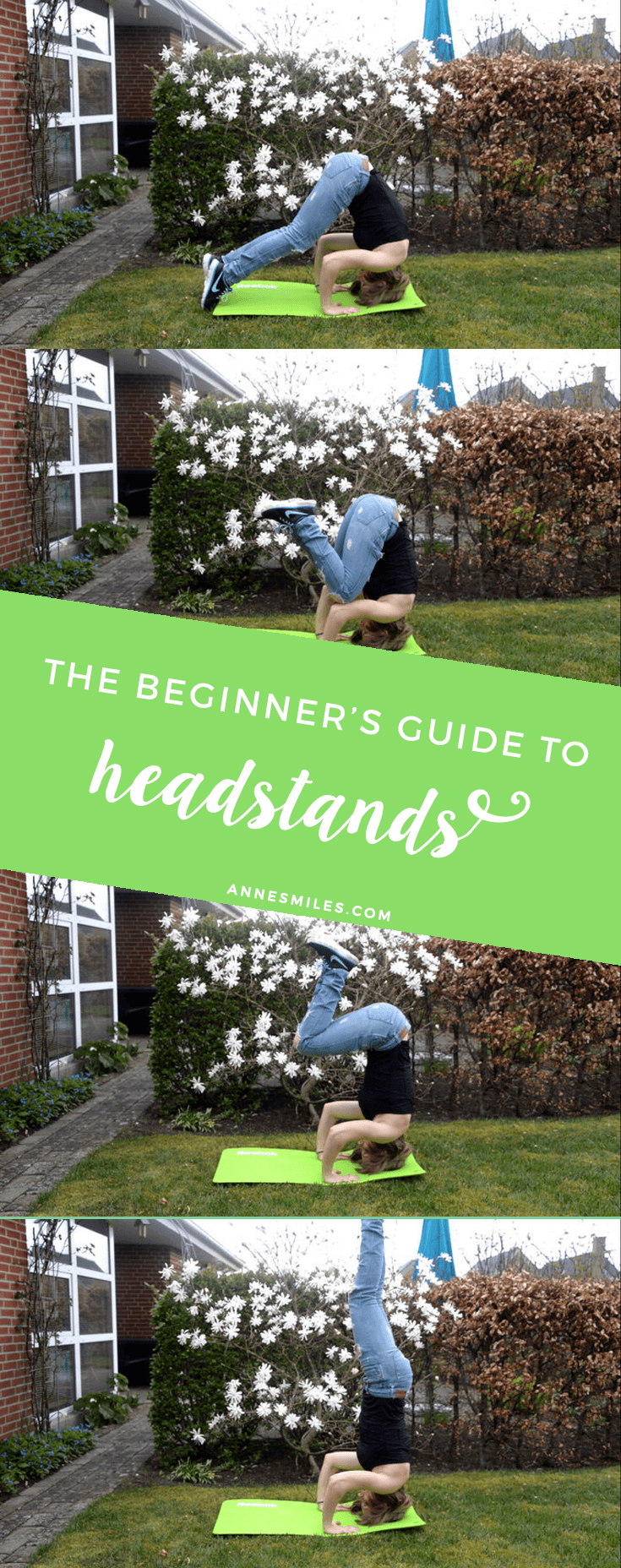 4 easy steps to your first headstand - A Yoga guide for beginners #yoga #inversions #headstand