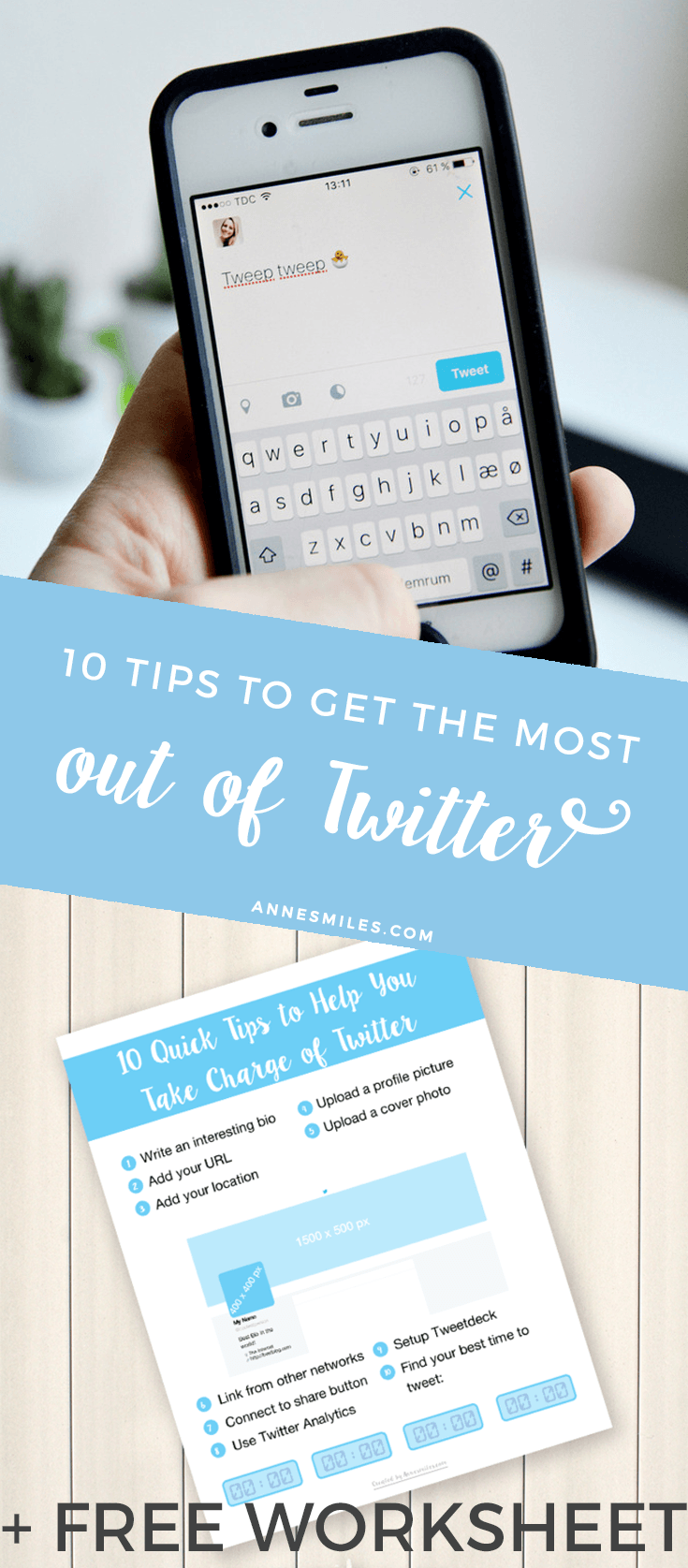 10 Quick Tips to Help You Take Charge of Twitter (+ Free Checklist)