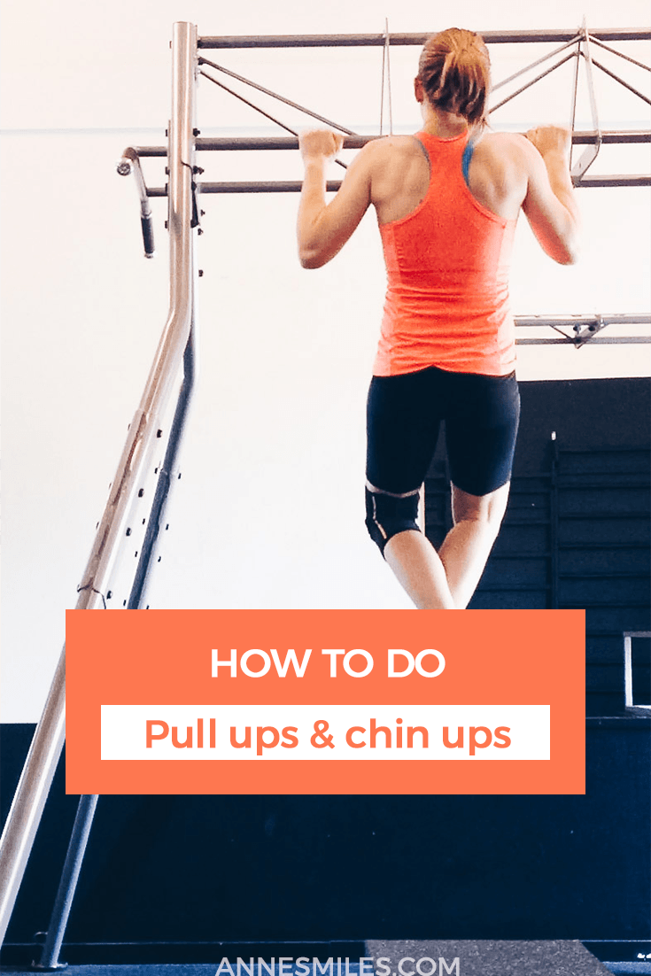 Learn the difference between pull ups and chin ups, and how to do them correctly! #fitness #strengthtraining #strong