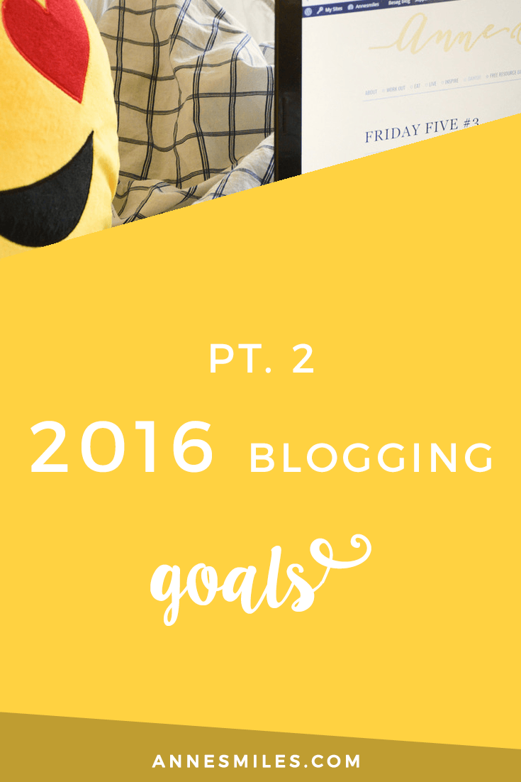 Blogging Goals 2016 pt 2. How close I got to my first goals, and how I plan to improve my blog further! Click through to read more, or repin to save for later!