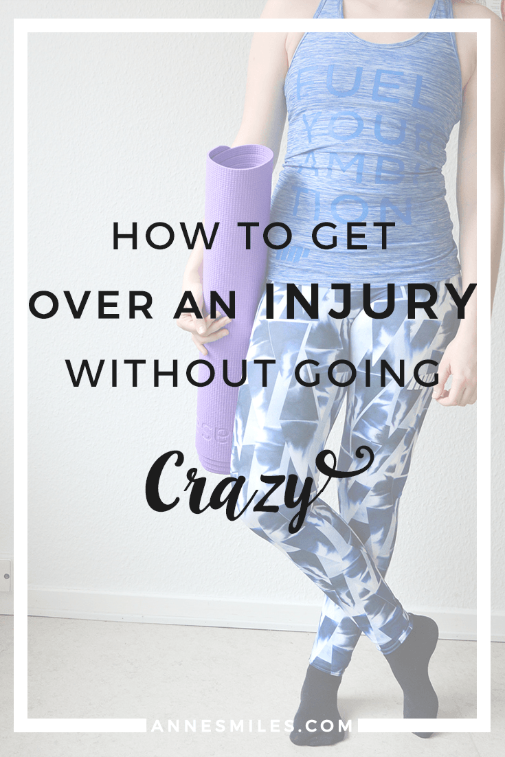 Being injured is hard. It's frustrating, and hard to handle when fitness is an important part of your life. Here's how I've learned to cope with my long term injury. Click through to read more, or repin to save for later!