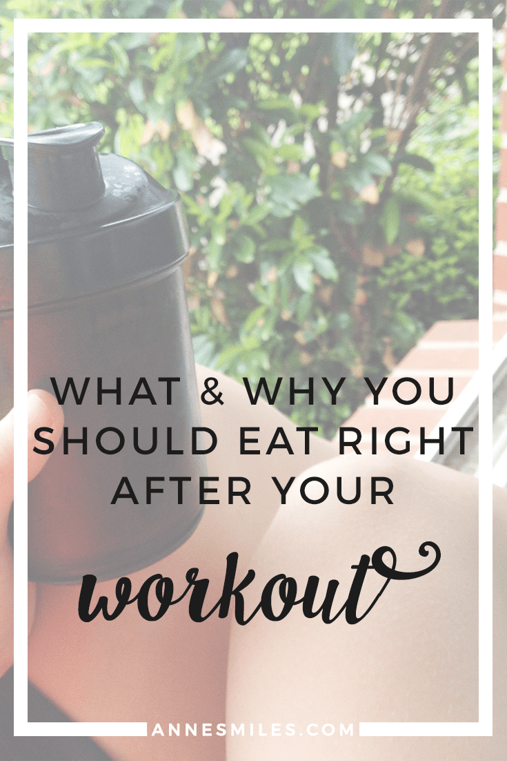 What and Why You Should Eat After Your Workouts