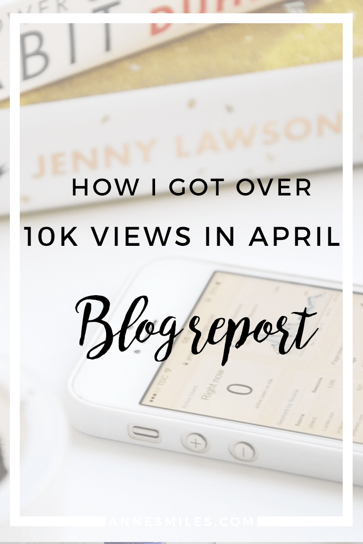 How I Got Over 10K Views in April - Blog Report