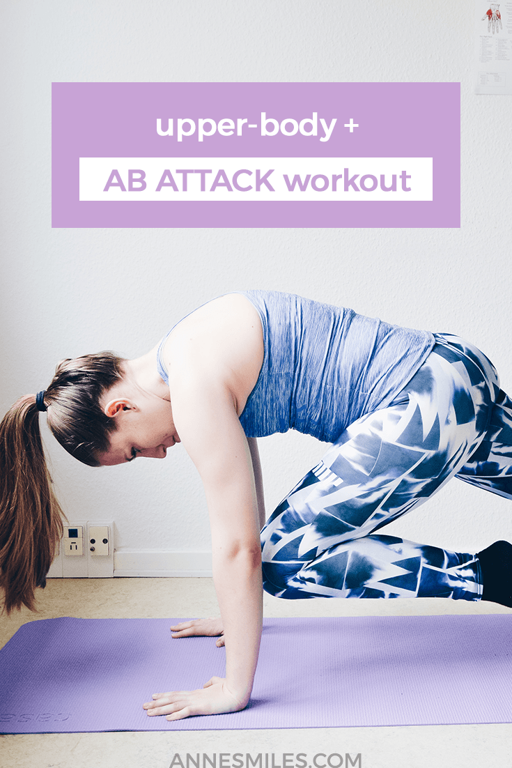Here\'s an upperbody workout combined with an extreme ab workout. I just love these exercises. So are you up for the challenge? Click through to read more, or repin to save for later!