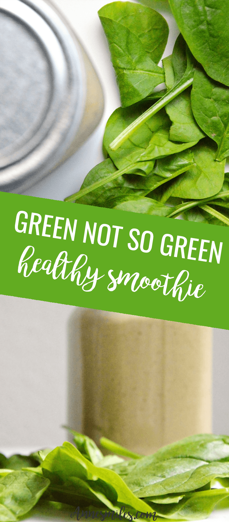 Bam! Smoothies can be healthy and full of greens without looking green. And they still taste amazing. Here's a quick & healthy recipe || Click through to read more, or repin to save for later!