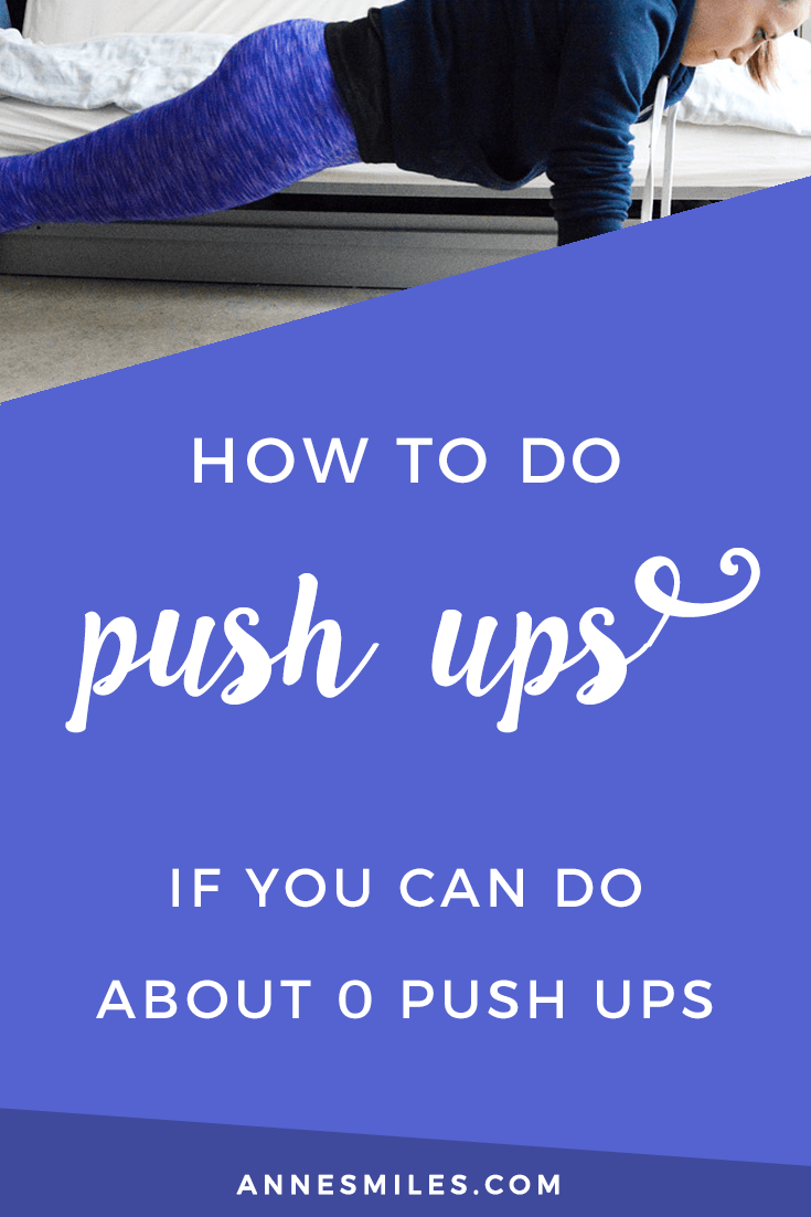 How to do push ups (if you can do about 0 push ups). Become a push up master! #fitness #fitnesstips #beginnerfitness #pushups
