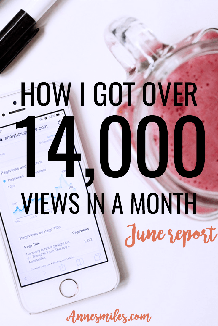 How I got over 14,000 views + grew my Pinterest traffic by x4 in just a month! Sharing my tips & tricks in my monthly blog traffic report. Click through to read more, or repin to save for later!