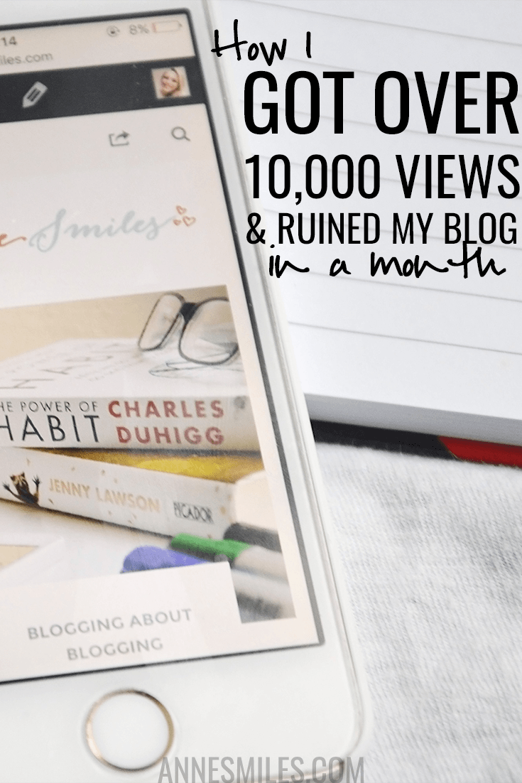 How I got over 10,000 views in a month and ruined my blog. Monthly report where I share my stats and strategies (and a mistake you'll hopefully never make!). Click through to read more, or repin to save for later!
