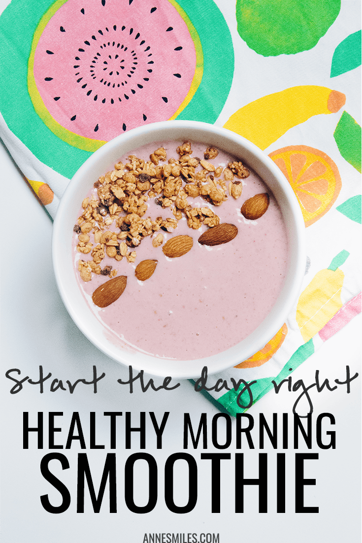 A healthy smoothie to start the day right - takes no time to make!