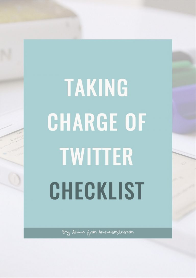 Image text: Taking charge of twitter checklist