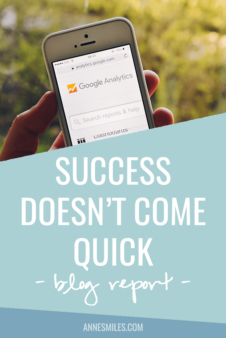 Success Doesn\'t Come Quick | September Blog Report