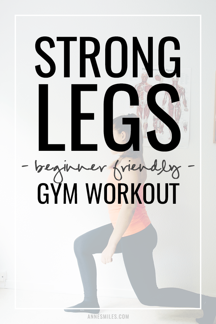 Here\'s a beginner friendly workout you can try the next time you\'re at the gym if you want to make your legs stronger! #workout #fit #strength