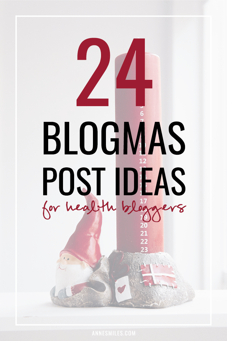 Blogmas - the yearly tradition of bloggers trying to post new content every day until Christmas. Here's how my blog schedule would look if I was doing Blogmas for health bloggers #blogmas #christmas