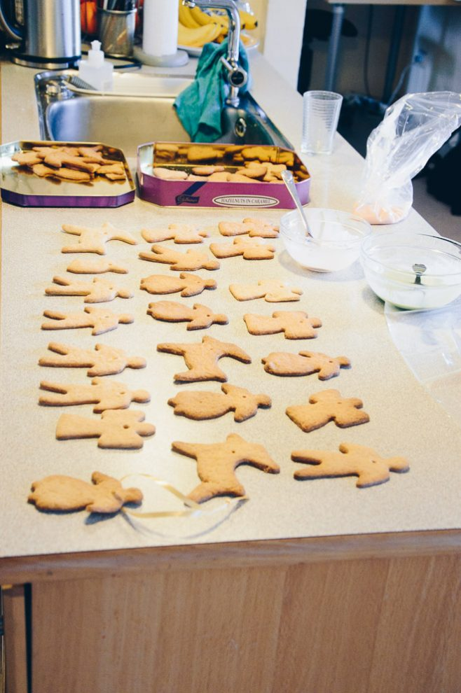 Christmas cookie production