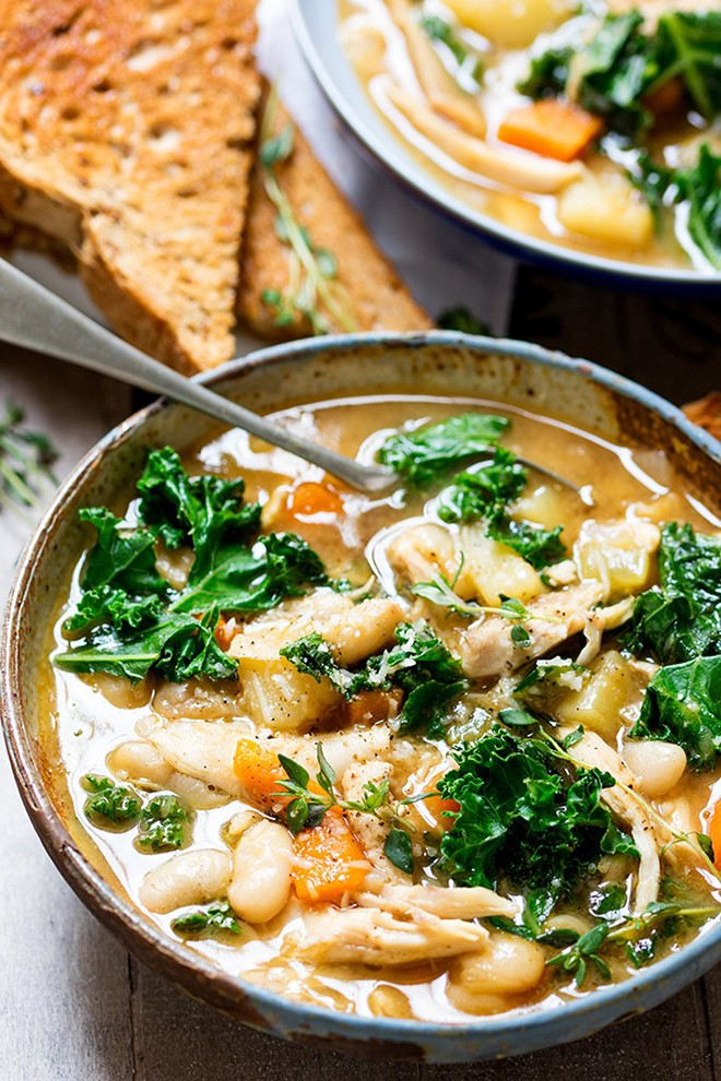 Warm yourself up with this hearty tuscan style chicken soup - kitchensanctuary.jpg