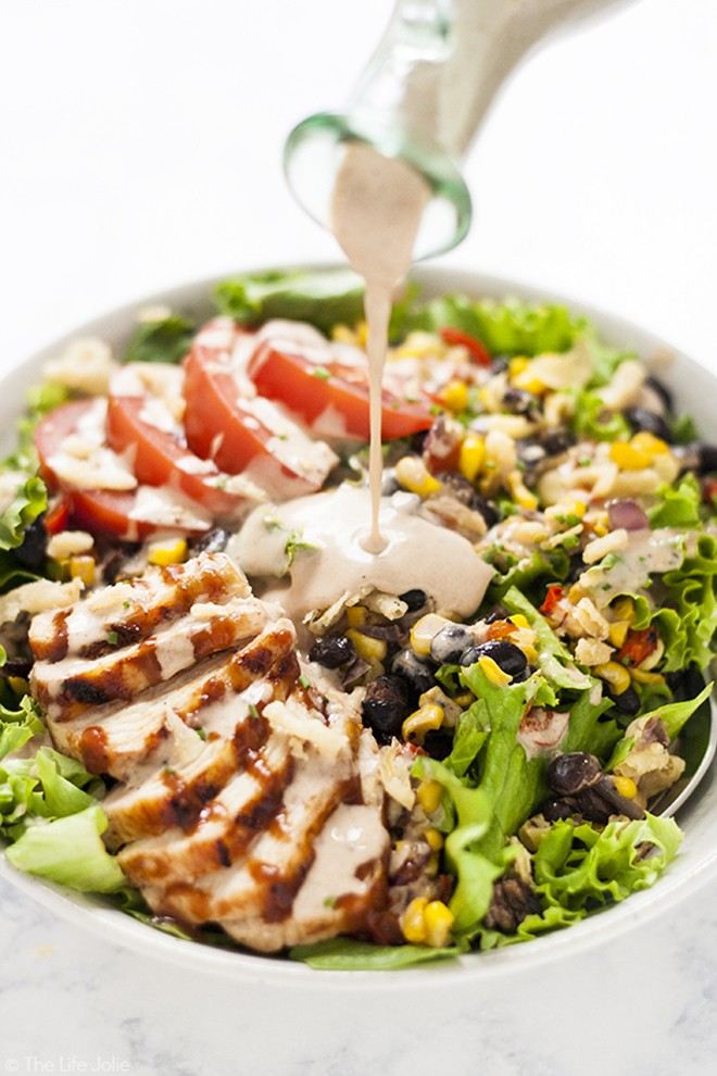 Another salad I'm in love with; Copycat Panera Bread BBQ Chicken Salad.