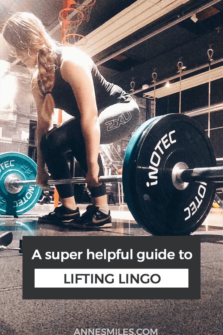 Your guide to all the jargon and industry terms from the gym's weight room #lifting #strengthtraining #fitness