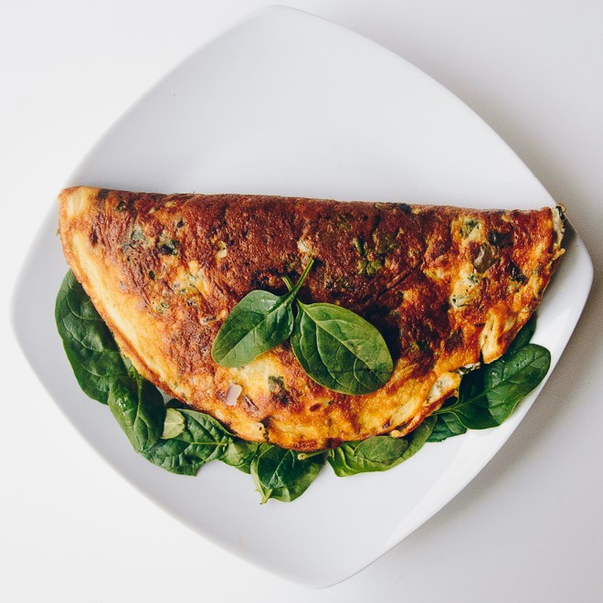 Spinach Omelette Recipe - A Simple, Healthy Meal