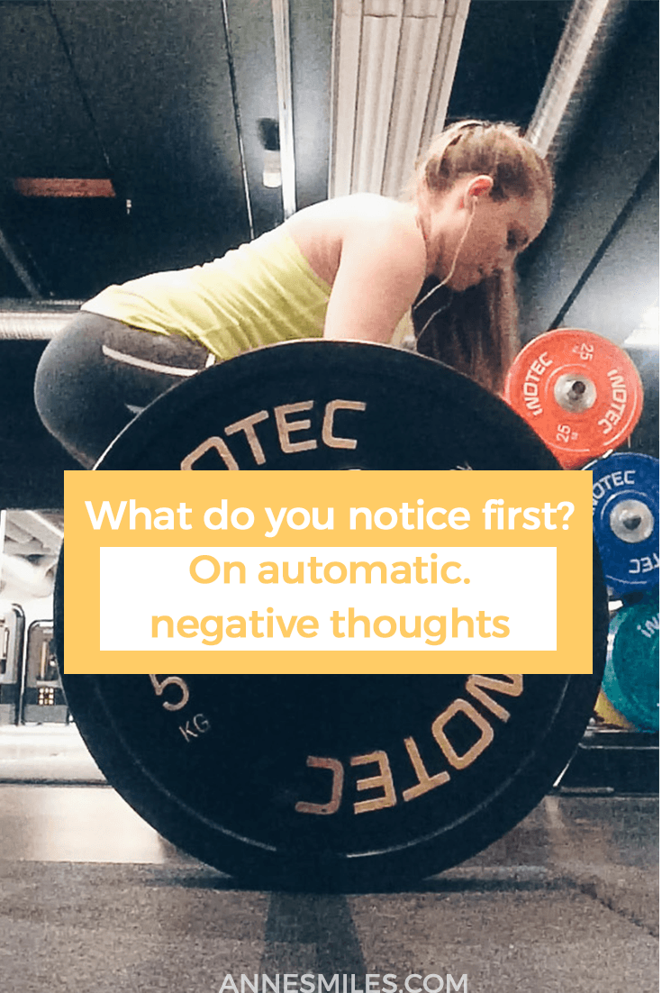What do you notice first in this picture? On automatic negative thoughts
