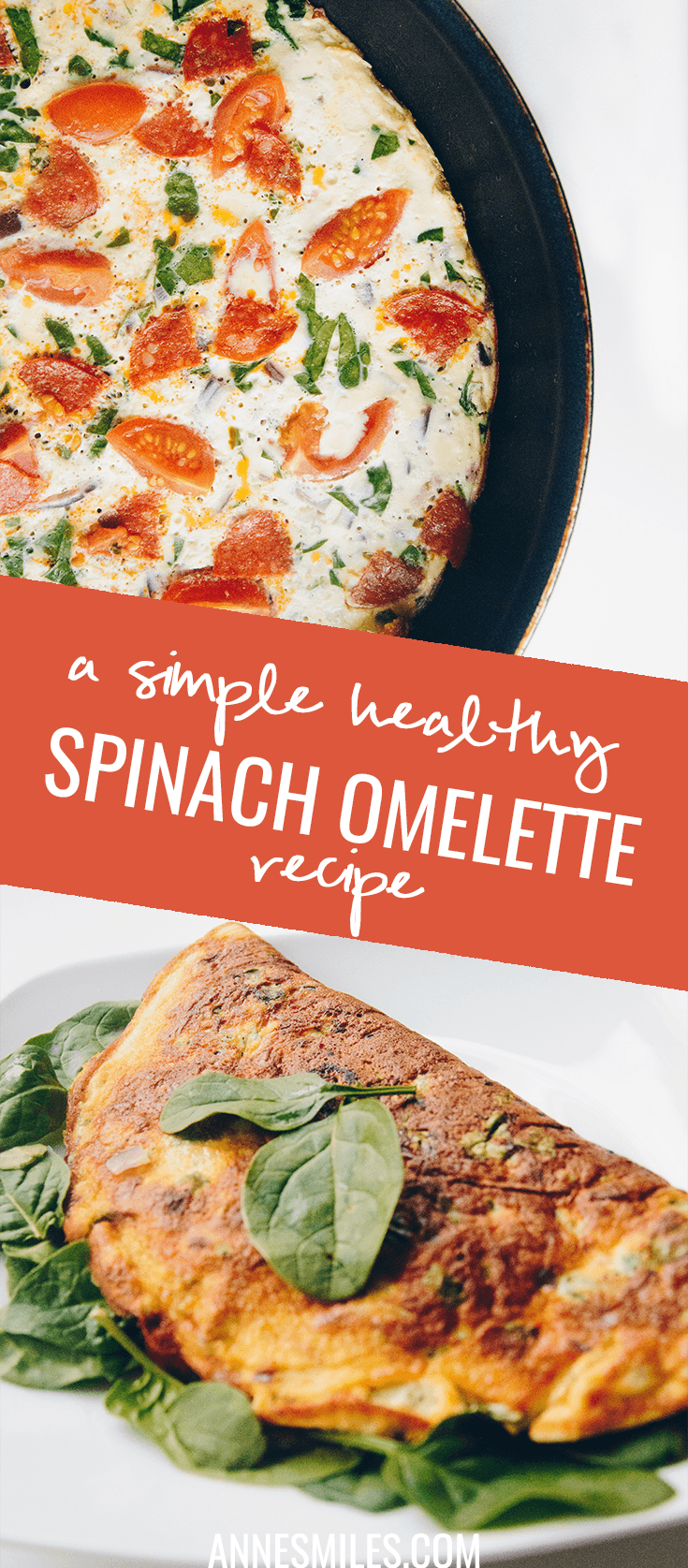 Recipe for a health, yummy spinach omelette