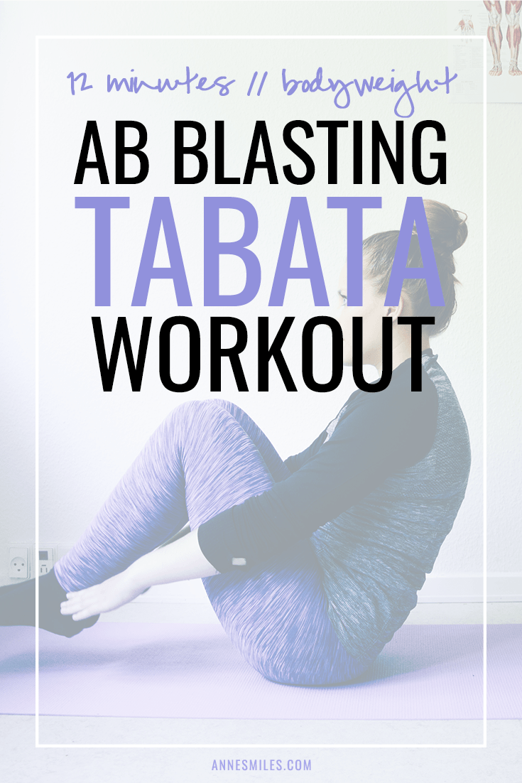 Try this ab blasting, 12 minute, bodyweight tabata workout!