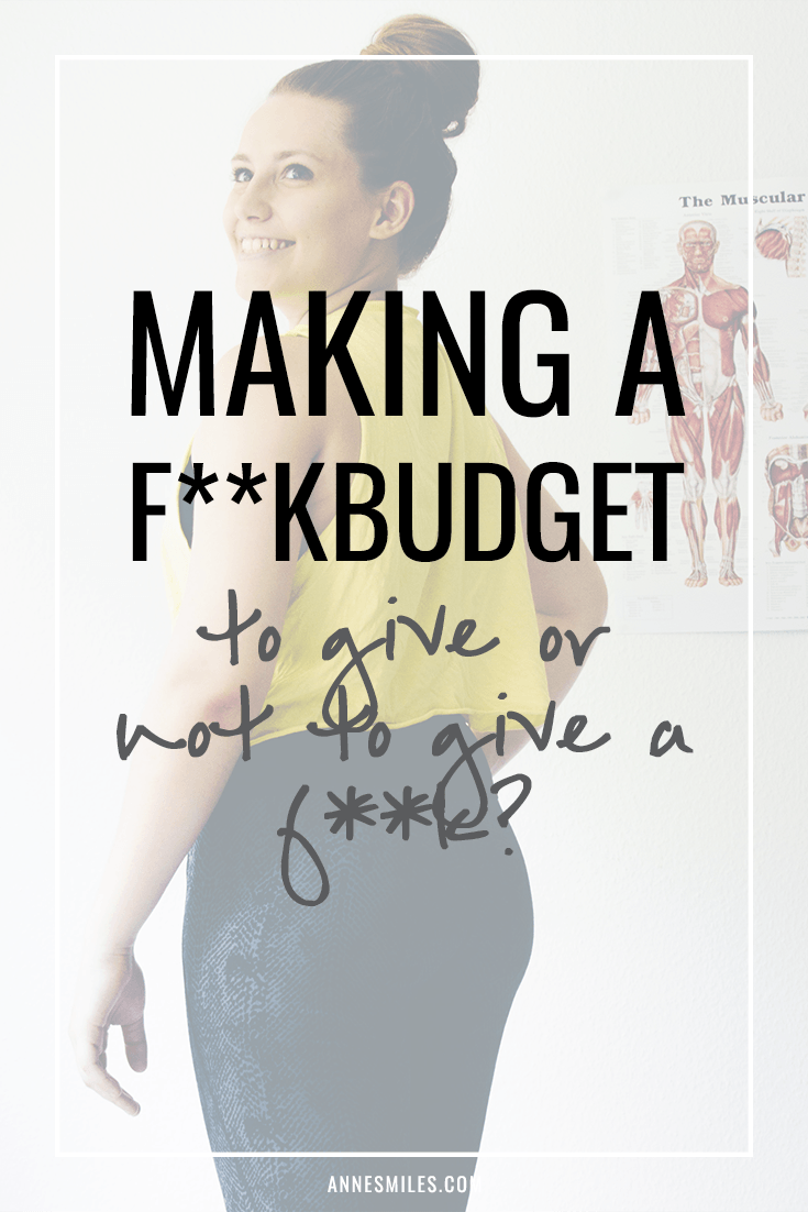 F**kbudget: To Give or Not to Give a F**k?