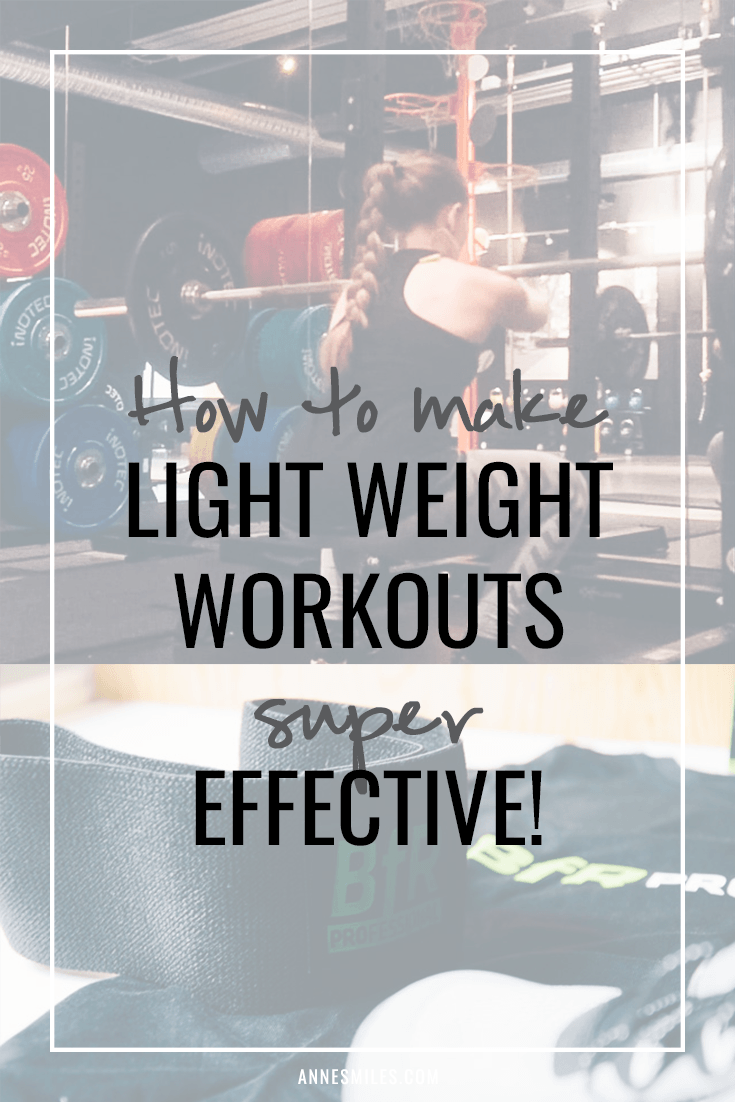 Take your workouts to the next level with BFR - make even light workouts super effective