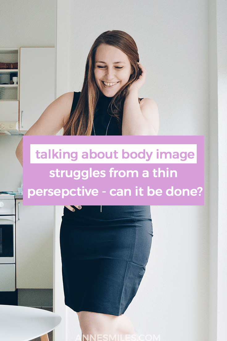 Everybody can feel bad about their body, but society doesn't treat all bodies the same way. Therefore I wonder if it's possible to talk about body image struggles from a thin perspective #bodypositivity #bodyimage #goalbody