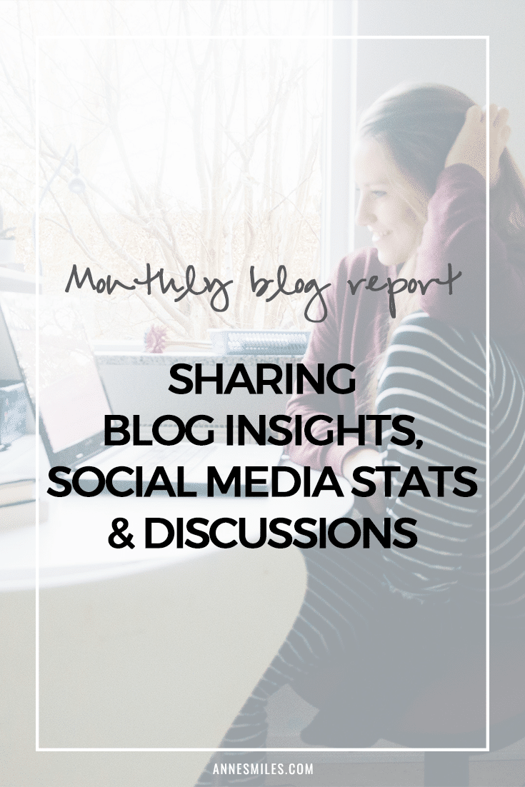 Monthly blog report taking a close look at blog traffic, social media stats and sharing blogging tips secrets #blogging #blogtips #blogreport