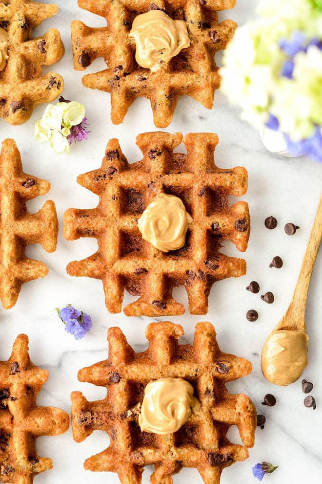 PEANUT BUTTER WAFFLE COOKIES