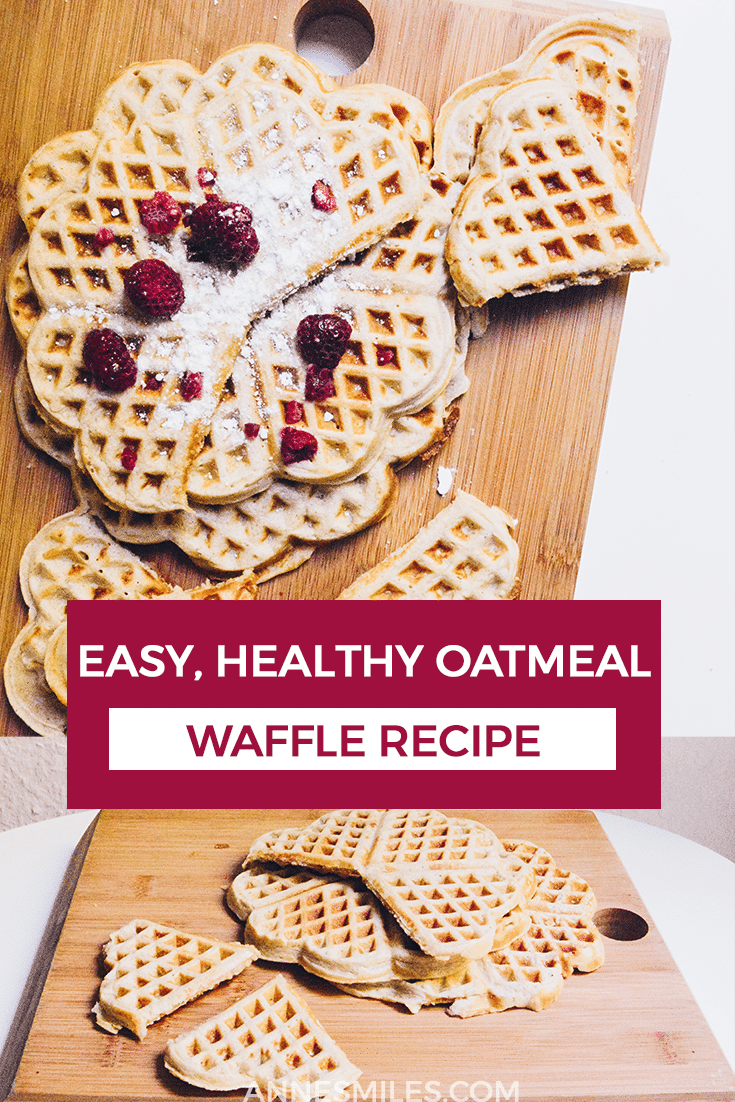 A simple recipe for the best breakfast food: waffles! This is a healthy recipe including oatmeal for a tasty, filling breakfast. #breakfast #healthyrecipes #waffles