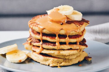 These banana oatmeal pancakes only require a couple of simple ingredients, and are a healthy way to start the day!